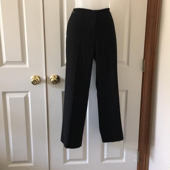 "999ec22b16850 Liz Claiborne ""Sloane"" Black slacks. Size 10P"